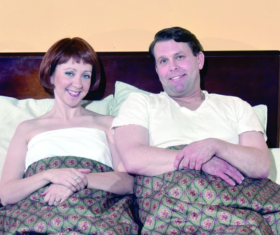 Natalie Sander Kern as Doris and Keith Stevens as George. PHOTO   Bruce Ford