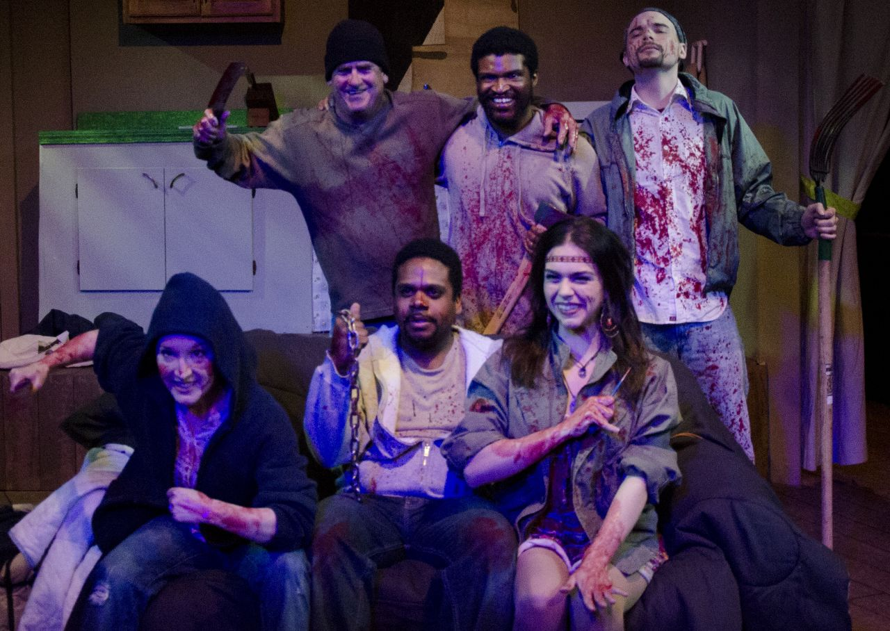 Back from left, Dennis Burby as Hector, Wesley Allen as Panama, and Beau Reinker as Eliseo. Front from left, Kelsey Rubenking as Janis, Jamal Davidson as Eric, and Hillary Wheelock as Lila. Photo | Cory Molner