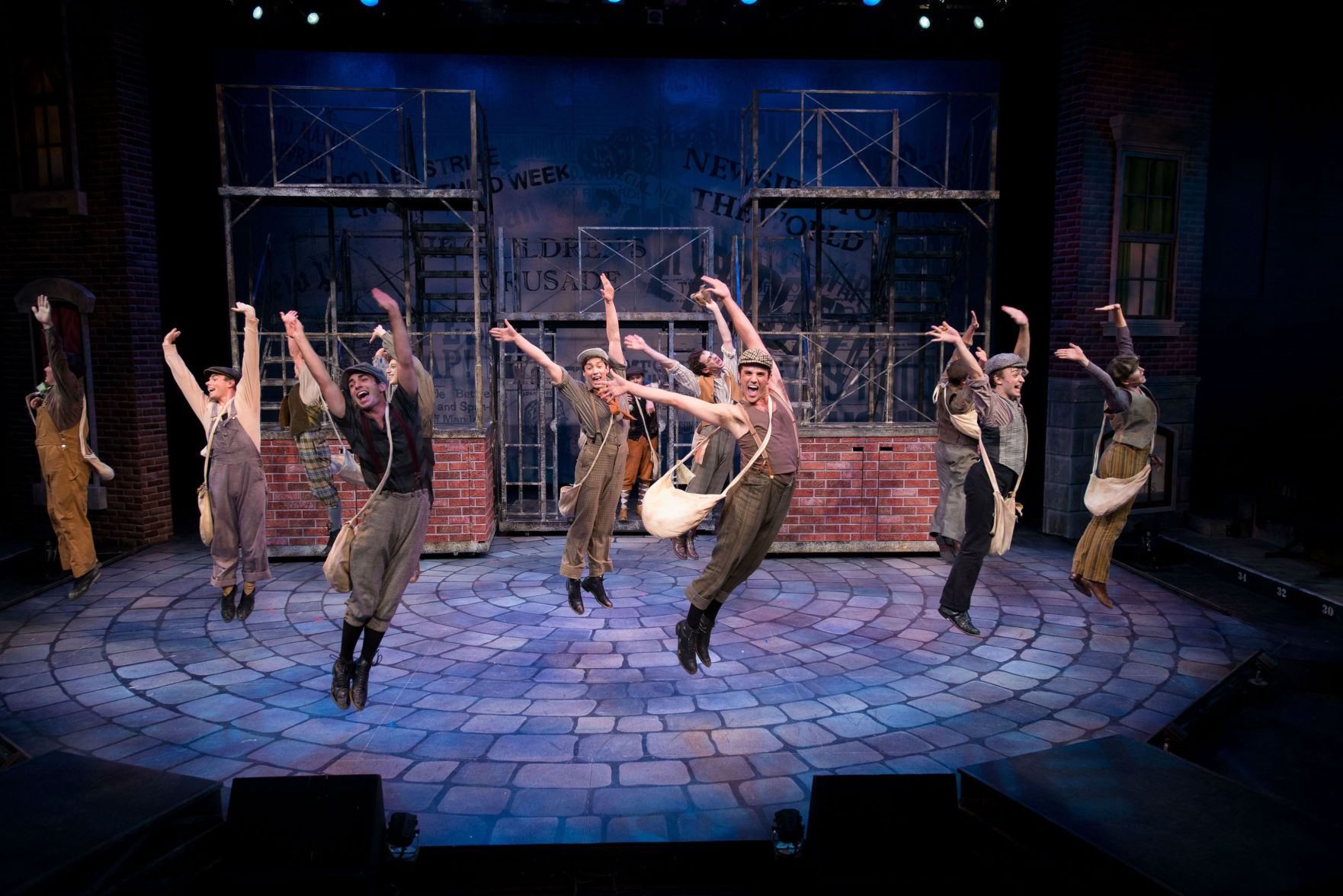 The newsies take flight. Photo | Paul Silla