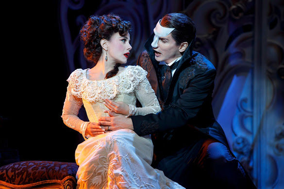 "Meghan Picerno as Christine and Gardar Thor Cortes as The Phantom in touring ""Love Never Dies."" Photo / Joan Marcus"