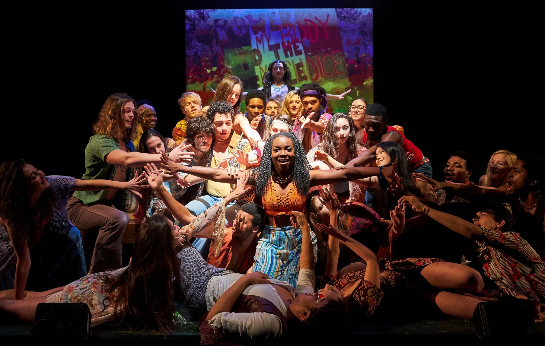 "The cast of ""Hair."" Photo / Roger Mastroianni"