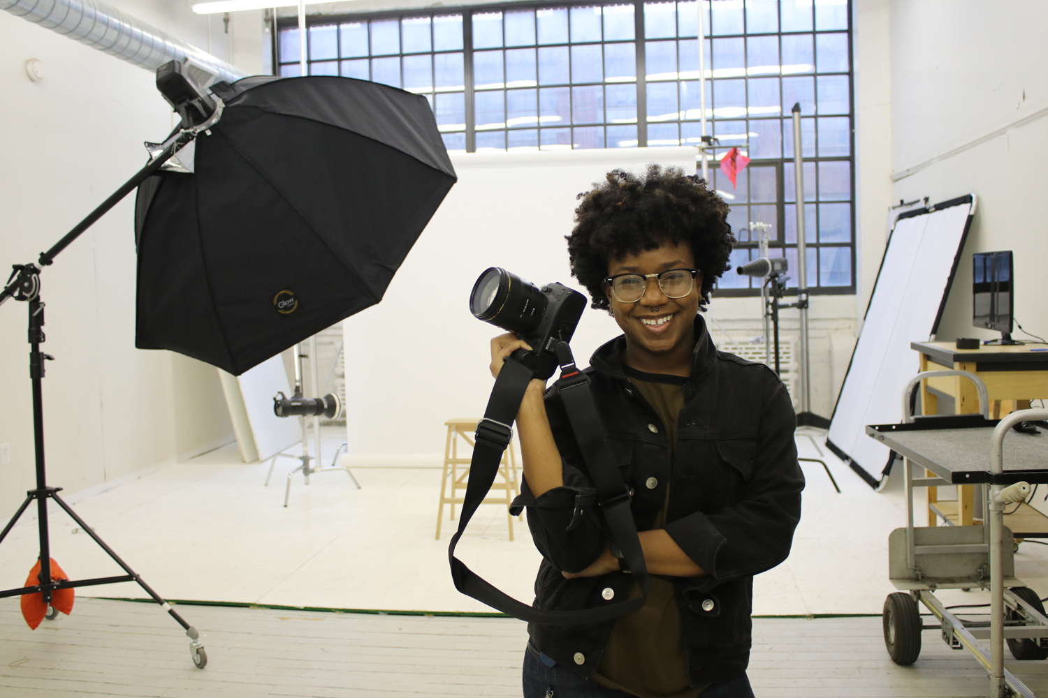 Amber N. Ford in her Cleveland studio.