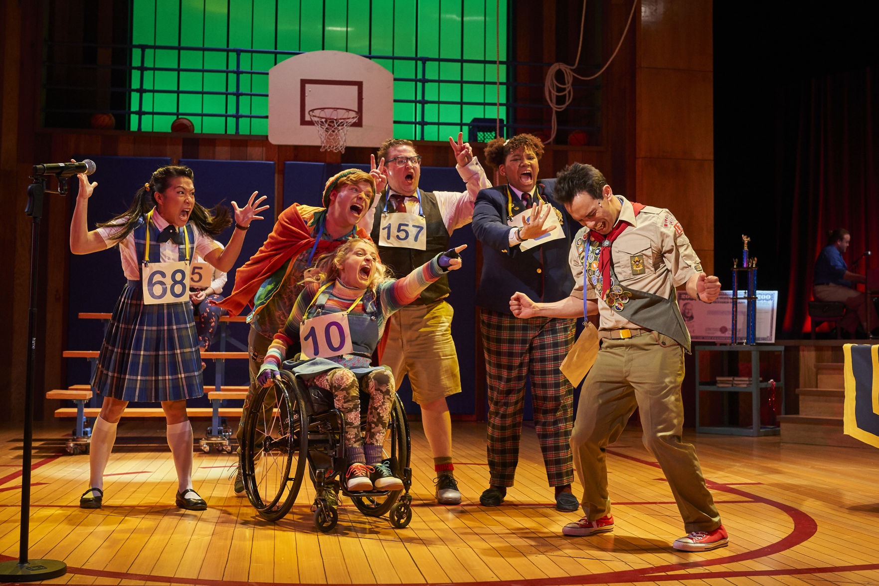 "The kids of ""The 25th Annual Putnam County Spelling."" Photo / Roger Mastroianni"